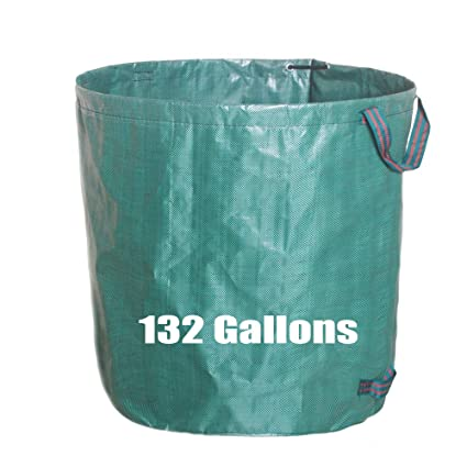 Swell 132 Gallons Garden Waste Bag Extra Large Heavy Duty Gardening Containers Reusable Leaf Bags 1 Pack Green Interior Design Ideas Gentotthenellocom