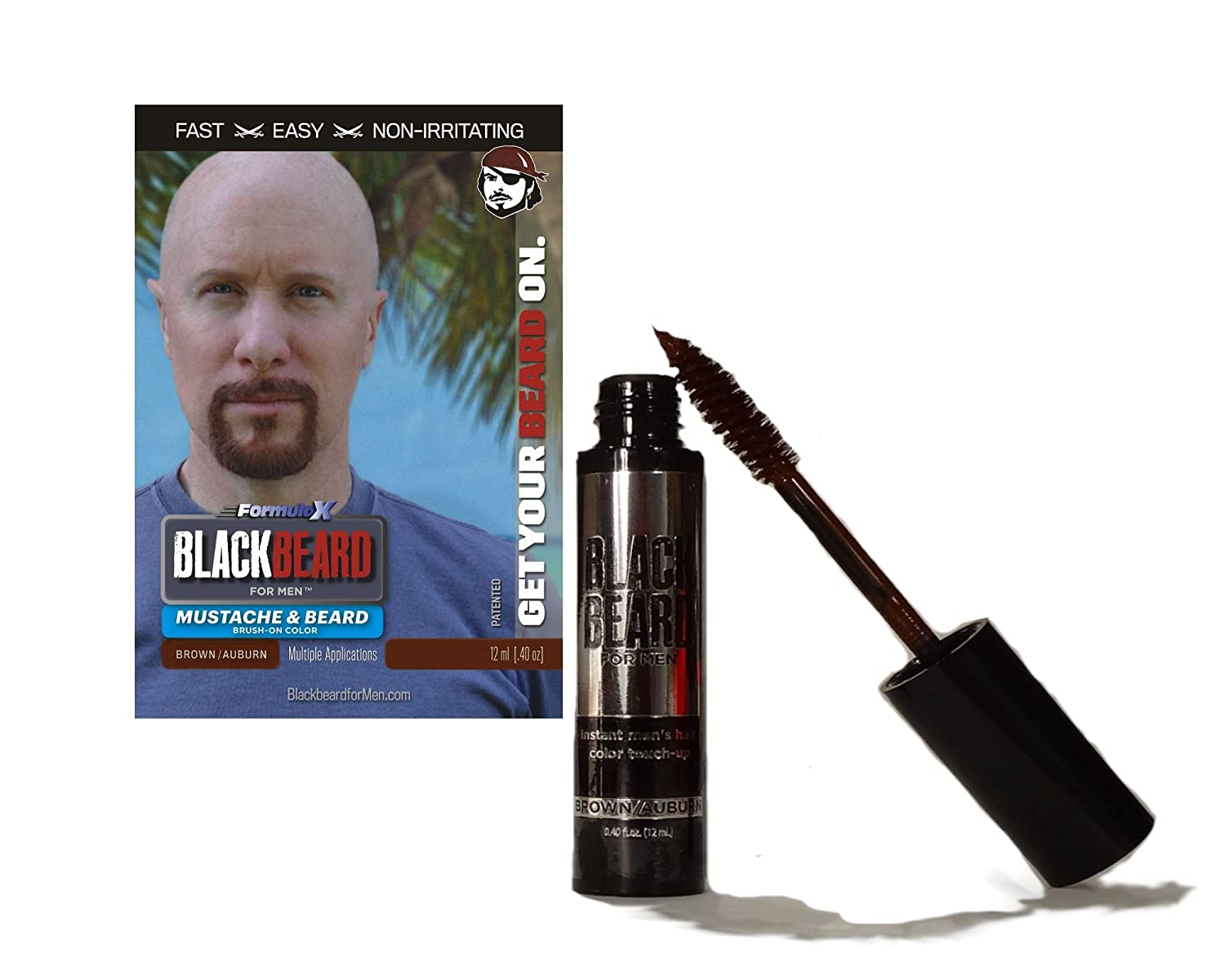 Amazon.com : Blackbeard for Men - Instant Brush-on Beard ...