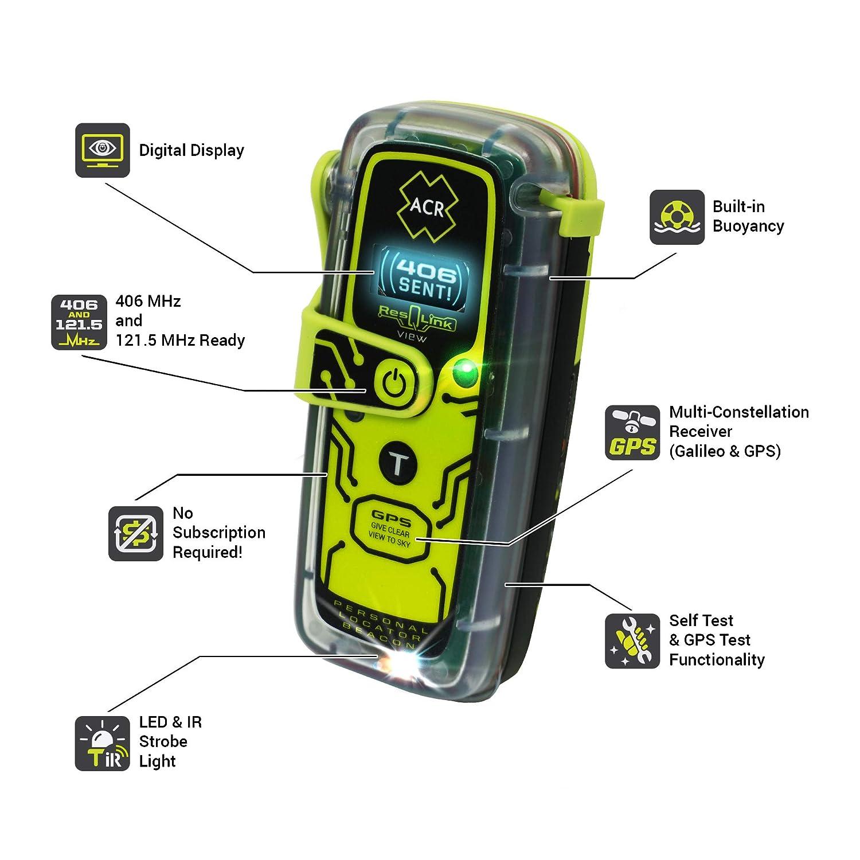 Model PLB-425 ACR ResQLink View Buoyant GPS Personal Locator Beacon