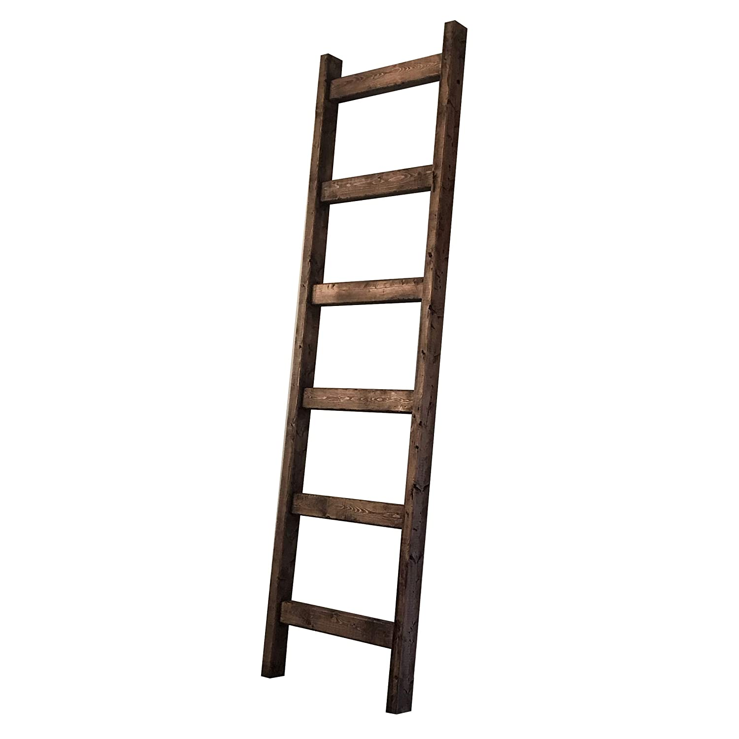 6 Foot Rustic Blanket Ladder - Smooth Finish/No Blanket Snags
