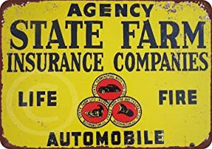 Fireworksss State Farm Insurance Companies Vintage Look Reproduction Metal Sign 8 x 12