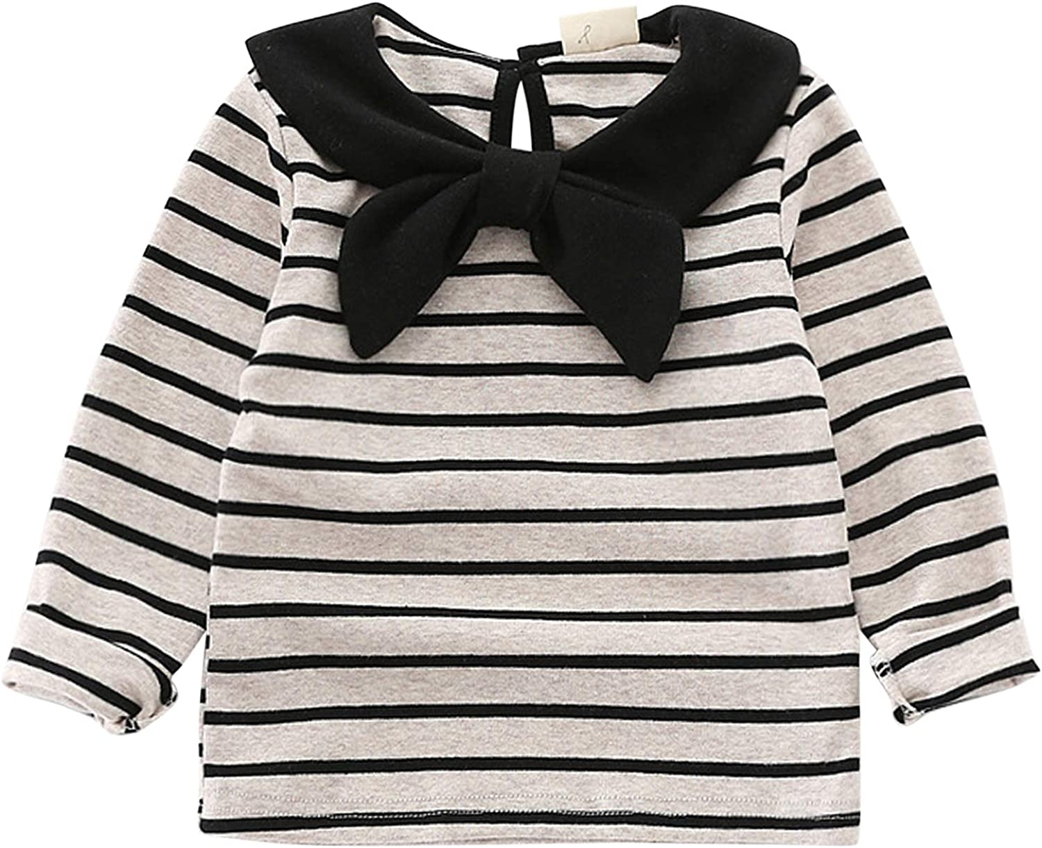 Tangbasi/® Doll Collar Toddler Baby Girls Long Sleeves T-Shirts Spring Peter Pan Collar Jumper Tops Sweatshirt