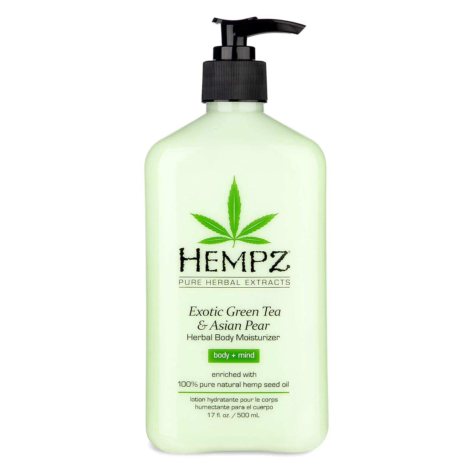 Exotic, Natural Herbal Body Moisturizer with Pure Hemp Seed Oil