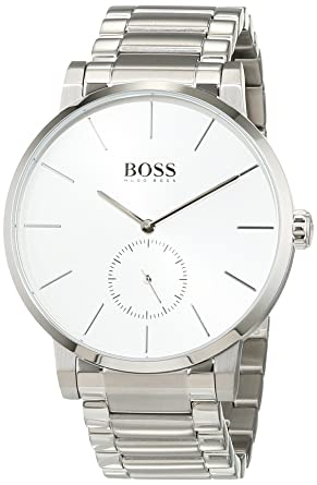 9387fae4dde Image Unavailable. Image not available for. Color  Hugo Boss Essence Silver  Dial Stainless Steel Men s ...