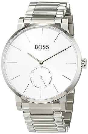 bester Wert Offizielle Website klassischer Stil von 2019 Hugo Boss Essence Silver Dial Stainless Steel Men's Watch 1513503