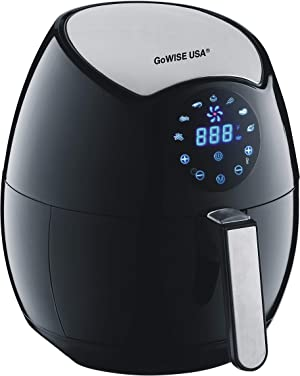 GoWISE USA Ming's Mark GW22621 Electric Air Fryer, 3.7 QT, Black