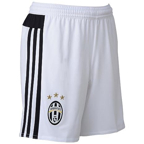 timeless design 4d79d 6d3a7 adidas Juve H SHO Y - Pantaloni Corti da Uomo, Colore  Bianco Nero