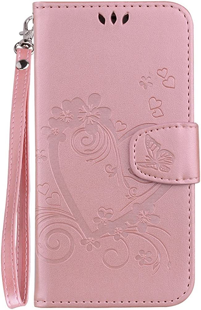 XYX Love Heart PU Leather Wallet Case for Samsung Galaxy S7 G930