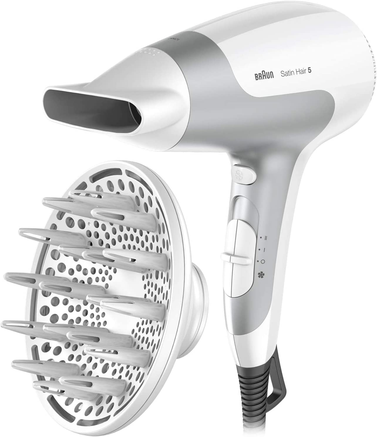 Braun Satin Hair 5 PowerPerfection HD585 - Secador de pelo potente y rápido con tecnología iónica