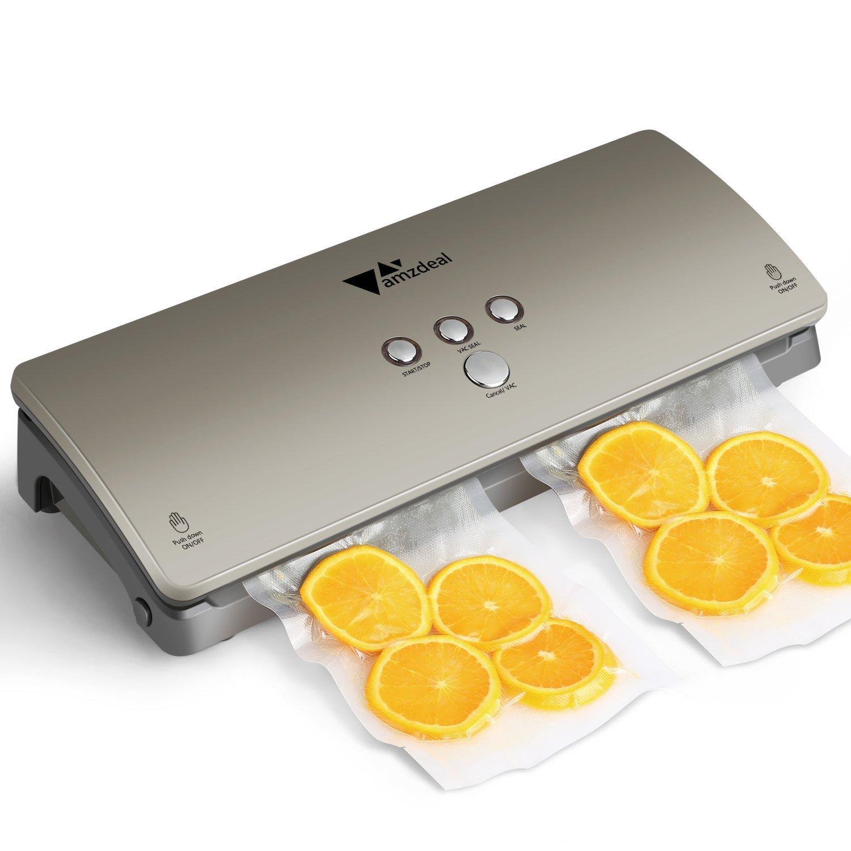 Amzdeal Appareil de mise sous vide pour sceller Nourriture, Viande, Fruits, Emballeuse sous vide automatique pour conservation des nourritures avec 20 Sacs product image