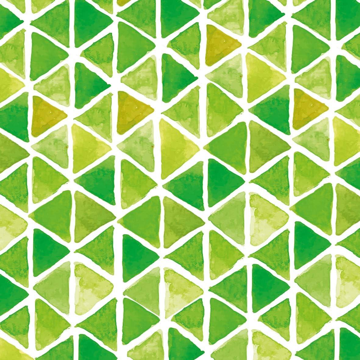 Home Collection Casa Cucina Decorazione Accessori Set 40 Tovaglioli Monouso Carta 3 veli 33 x 33 cm Motivo Acquerello Triangolo Verde