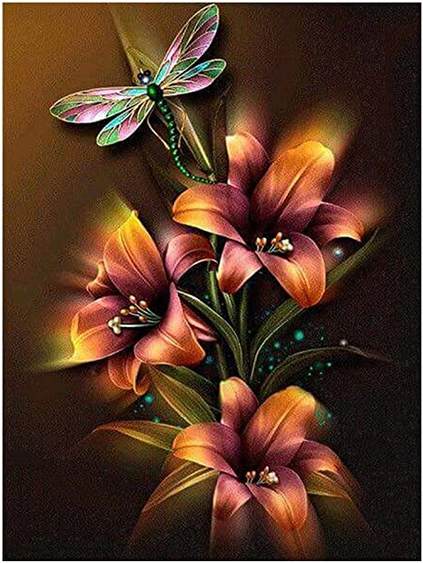 Flower5D Diamond Painting Embroidery Cross Crafts Stitch DIY Home Art Decor Kits
