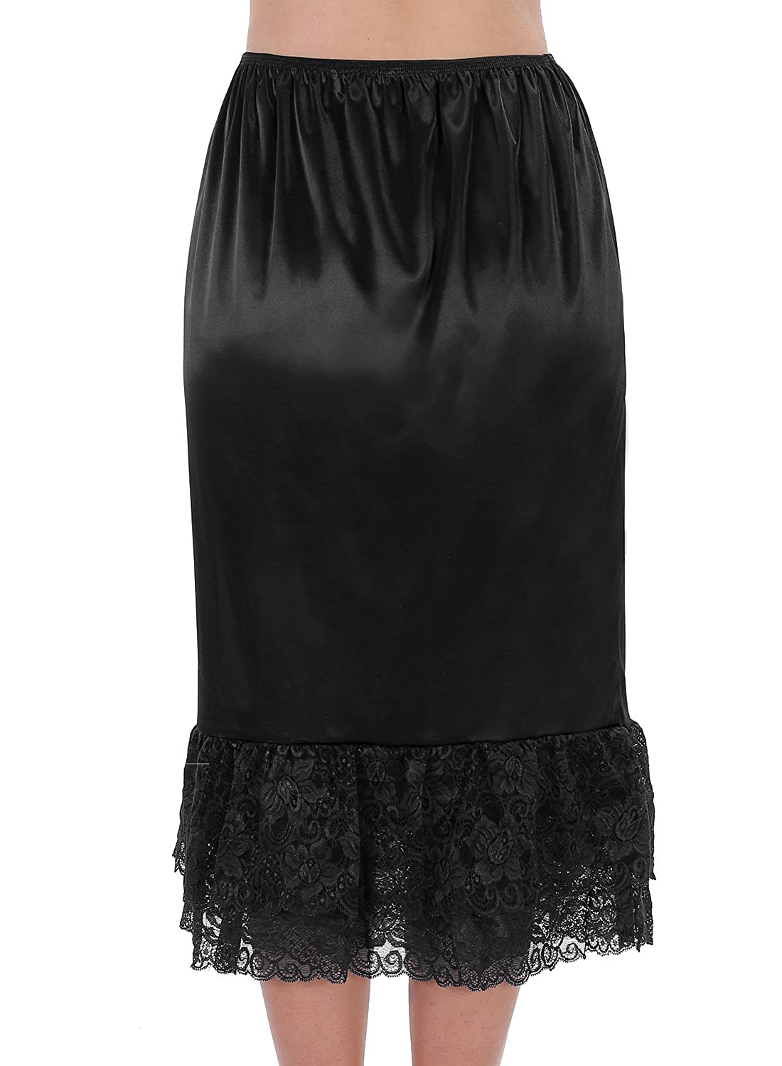 Find Dress Women Half Slip Flexible Underskirt with Lace Edging
