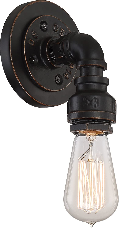 Industrial Bronze Nuvo Lighting Fixutre 60//5793 Three Light Vanity Fixture