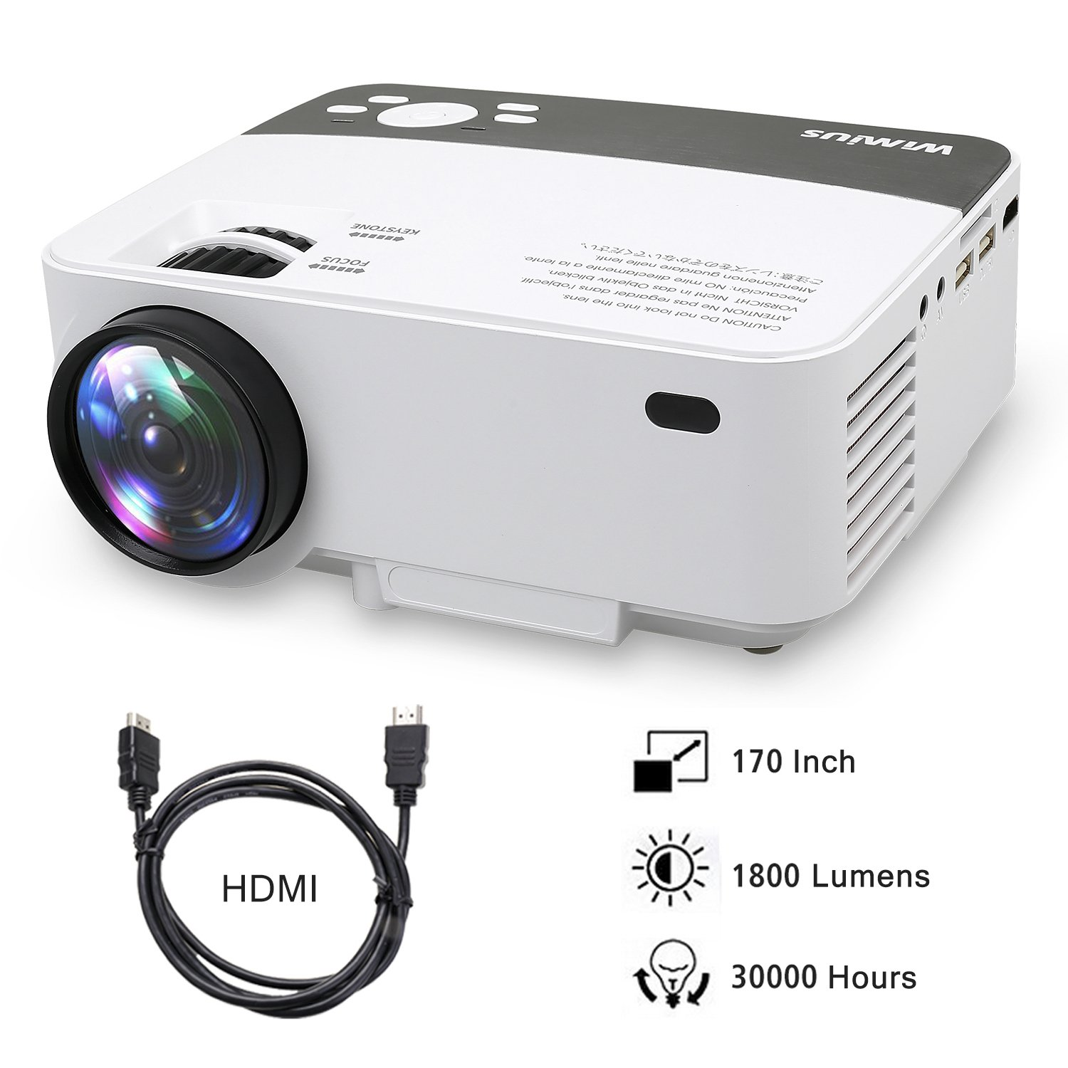 Proyectores, Mini Proyector Portátil HD Proyector LED 1800 Lumens ...