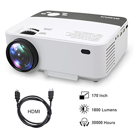 Proyectores, Mini Proyector Portátil HD Proyector LED 1800 Lumens WiMiUS R1 Projector LCD Home Cinema