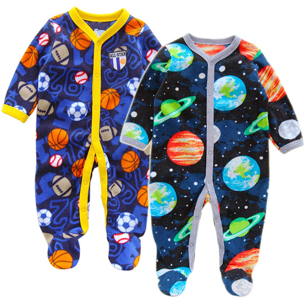 4677401b5 Baby Boy Romper Fall Outfits Set One Piece Jumpsuit Long Sleeve ...