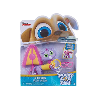 Puppy Dog Pals 94074 Light Mission-Hissy with Glider and Glasses, Multicolor: Toys & Games