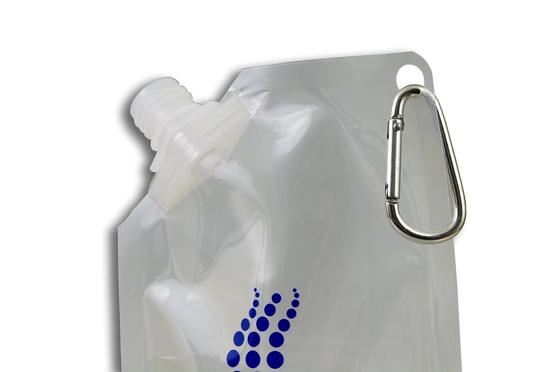| mosquet/ón reutilizable juego de botellas cierran herm/éticamente 2x350 ml, 2x500 ml, 2x 1l Juego de botellas plegables libre de bisfenol A