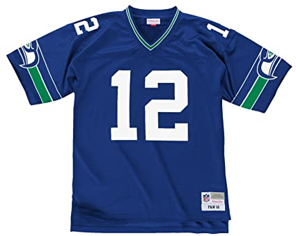 7cbf92d0d03 Seattle Seahawks Fan  12 NFL Men s Mitchell   Ness Throwback Replica Jersey  (4X-