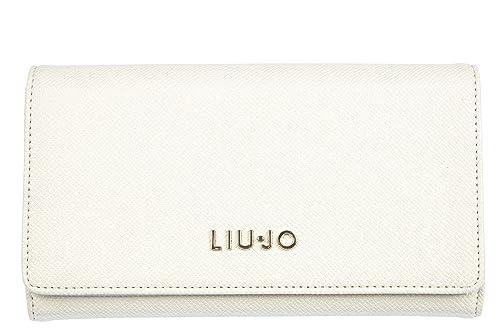 Liu Jo mujer monedero de la cartera nuevo blanco: Amazon.es ...