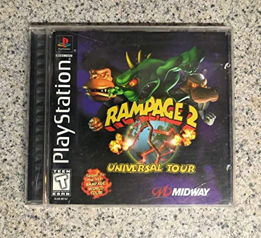 Amazon Com Rampage 2 Universal Tour Midway And Playstation Video Games