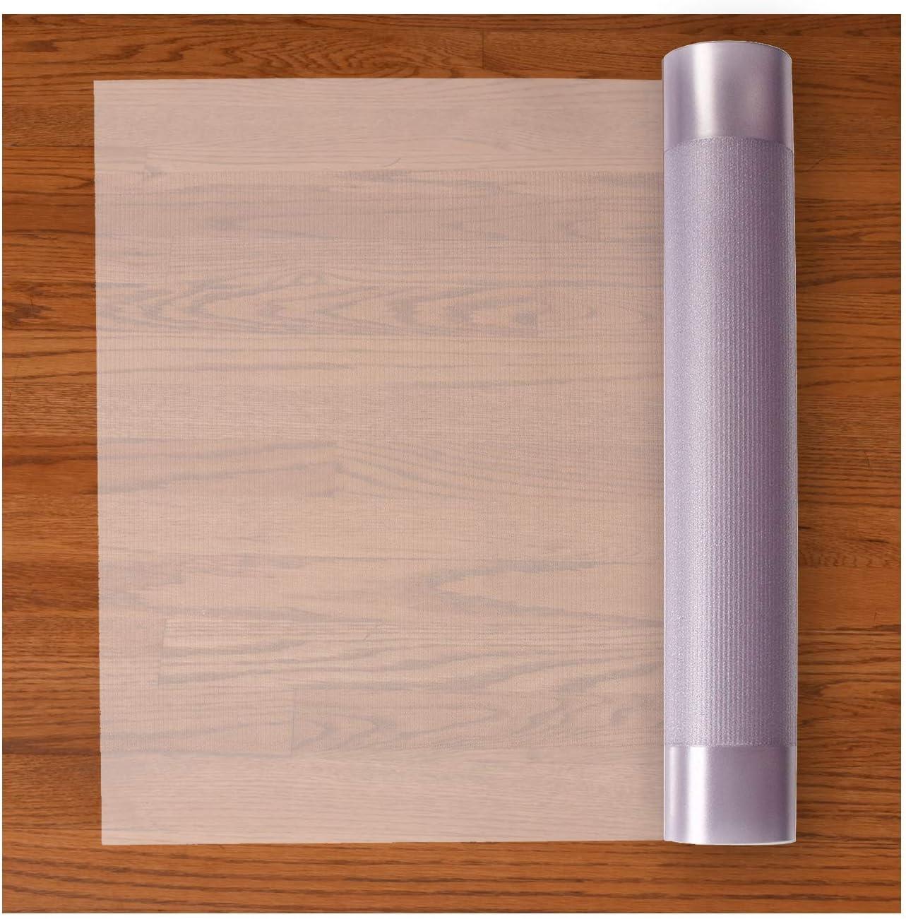 Resilia Premium Heavy Duty Floor Runner/Protector for Hardwood Floors – Non-Skid, Clear, Plastic Vinyl, 27 Inches x 25 Feet
