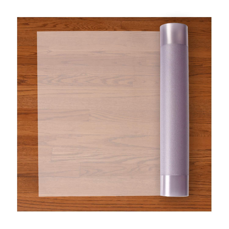 Resilia Premium Heavy Duty Floor Runner/Protector for Hardwood Floors - Non-Skid, Clear, Plastic Vinyl, 27 Inches x 12 Feet
