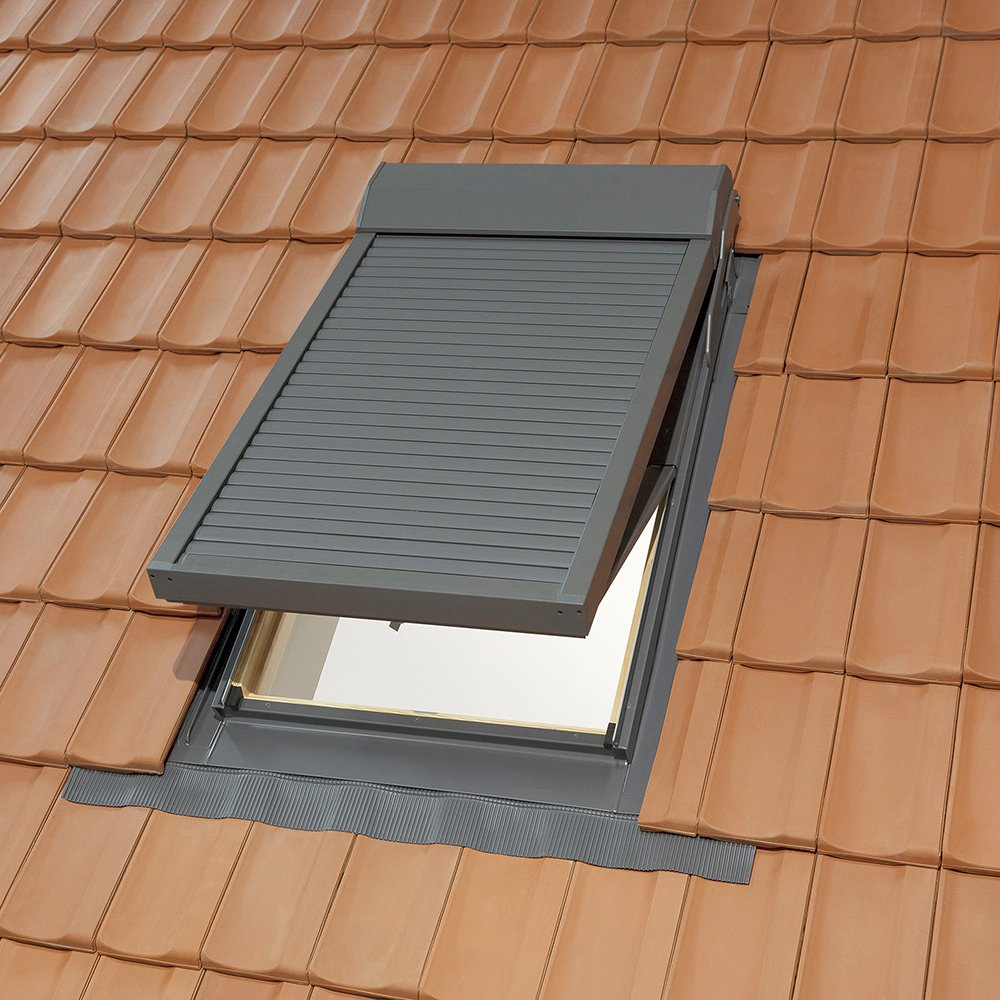 Turbo Dachfenster Kunststoff 78x118 cm mit Elektro-Rollladen und  DD96