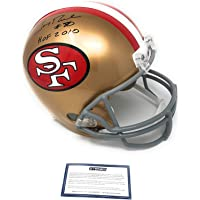 $299 » Jerry Rice San Francisco 49ers Signed Autograph Proline Authentic Full Size Helmet HOF 2010 Inscribed Steiner Sports Certified