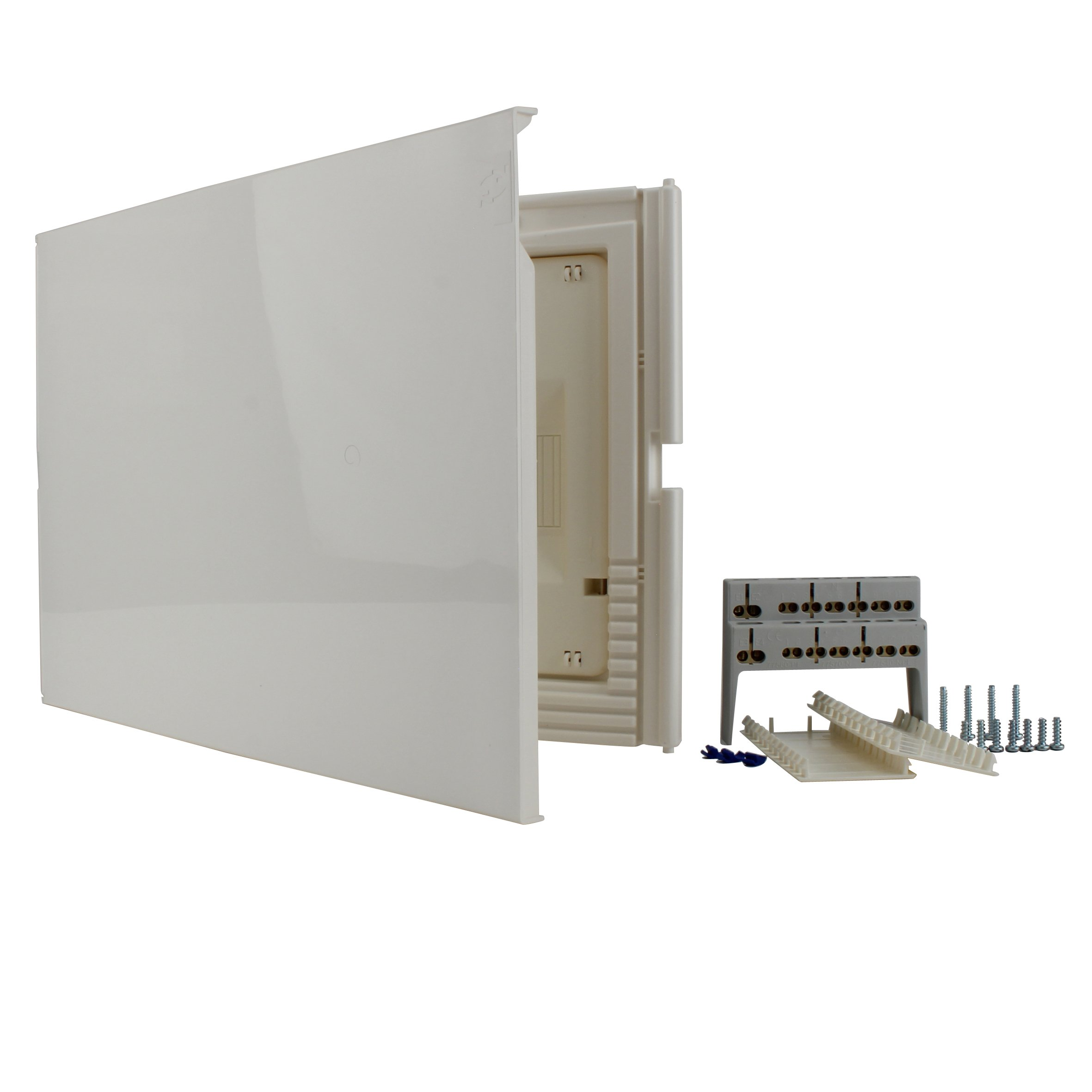 Unitec 40647 Small Distribution Board Flush-Mounted with Door 1-Row IP30