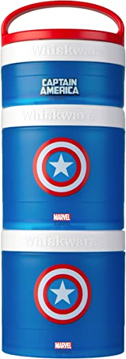 Whiskware Stackable Snack Pack, Captain America