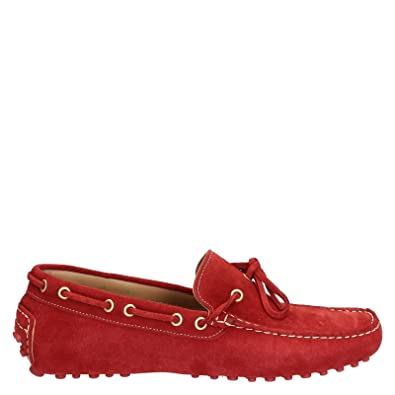 Men's 3041CAMOSCIOROSSO Red Suede Loafers