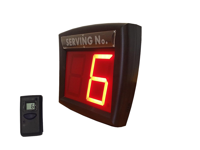 Impretech International Group Sistema de gestión de Colas Rojo con Control Remoto LCD ...: Amazon.es: Electrónica
