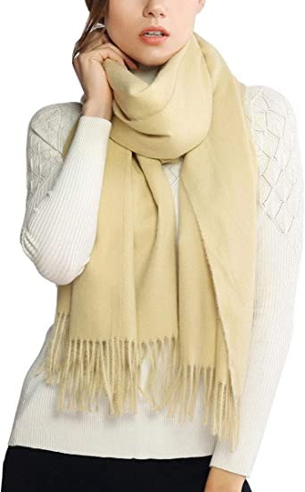Ladies Mens Winter Woolly Knit Check Scarf Fluffly Warm