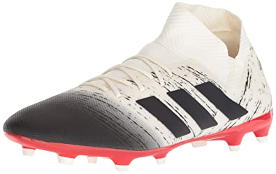 buy online 2166b 98695 adidas Men s Nemeziz 18.3 Firm Ground, Off White Black Active red, 6.5