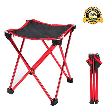 Miraculous Geezo Folding Camping Stool Small Portable Chair For Camping Fishing Hiking Gardening And Beach Camping Seat With Carry Bag Blue Evergreenethics Interior Chair Design Evergreenethicsorg
