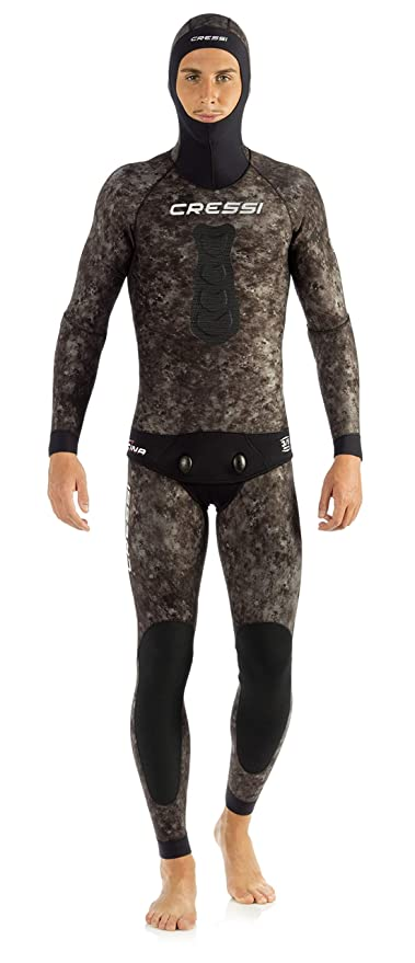 Cressi TRACINA HUNTER, Camouflage Neoprene 2-pieces Wetsuit Diving & Spearfishing Cressi: Italian Quality Since 1946