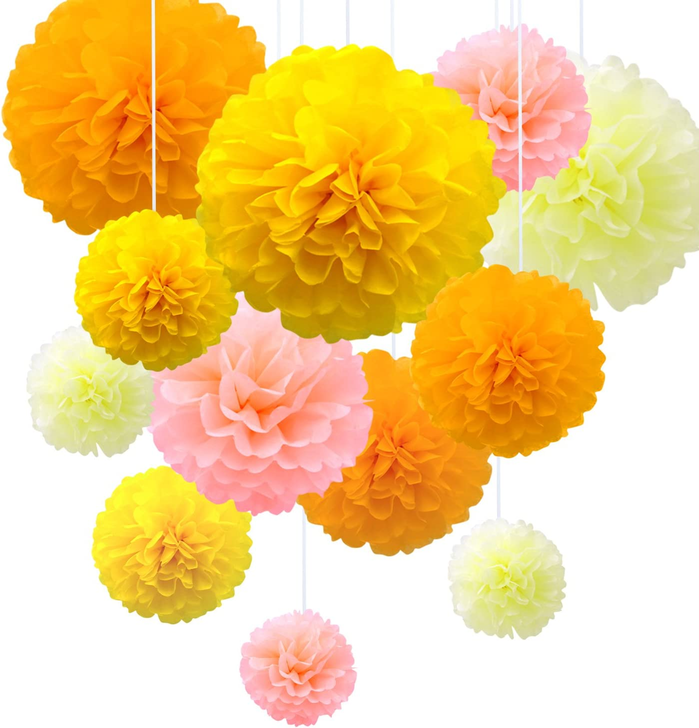 Tissue Paper Pompoms Flowers Decoration for Wedding//Birthday//Baby Shower//Christmas