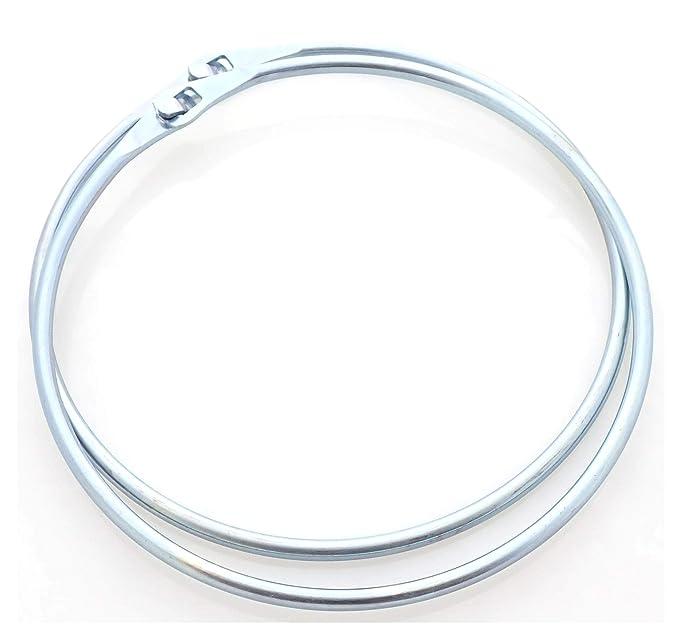 1x Warenring 150mm Stahl verzinkt Schlüsselring Gürtelring mit Schnellverschluss
