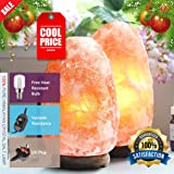 (Pack of 2)2-3 KG NATURAL PINK HIMALAYAN CRYSTAL ROCK SALT LAMP WITH DIMMER SWITCH AND BRITISH STANDARD ELECTRIC PLUG. 100 % PREMIUM AND FINE QUALITY. CE CERTIFIED. SOURCEDIY® (2-3 KG X 2)