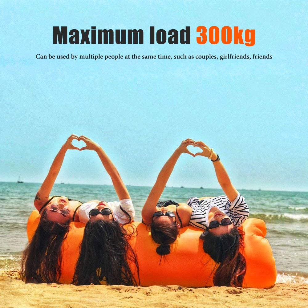 Camping,Pool and Beach ZSZBACE Inflatable lounger Sofa with Storage Bag Air Hammock Inflatable Couch Fit for Travelling