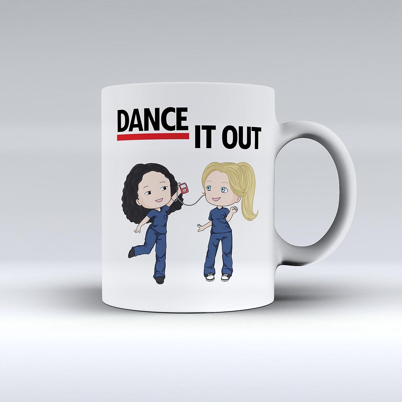 2cbfb02333e Amazon.com: Novelty Dance It Out Grey's Anatomy Coffee Mug Meredith ...