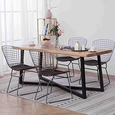 Fine Simhoo Metal Wire Dining Chair Accent Chair Side Chairs For Home Kitchen Living Room Dining Room Restaurant Office Set Of 4 Uwap Interior Chair Design Uwaporg