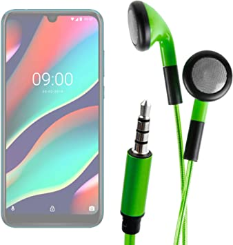 DURAGADGET Auriculares In-Ear con Luz LED Verde para Smartphone ZTE Blade A5 2019, WIKO VIEW3 Pro, WIKO VIEW3: Amazon.es: Electrónica
