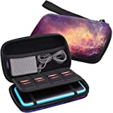 Fintie Carry Case for Nintendo 2DS XL, Protective Hard Shell Portable Travel Cover Pouch for New 2DS XL Console with Slots for Games & Inner Pocket (Galaxy)