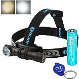 Olight H2R Nova 2300 Lumens LED Rechargeable Headlamp - Available in Neutral White or Cool White LED & LumenTac LED Keychain Flashlight