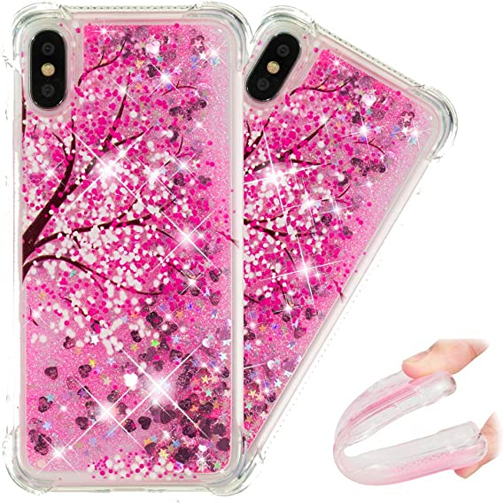 HMTECHUS iPhone 11 Case Glitter Liquid