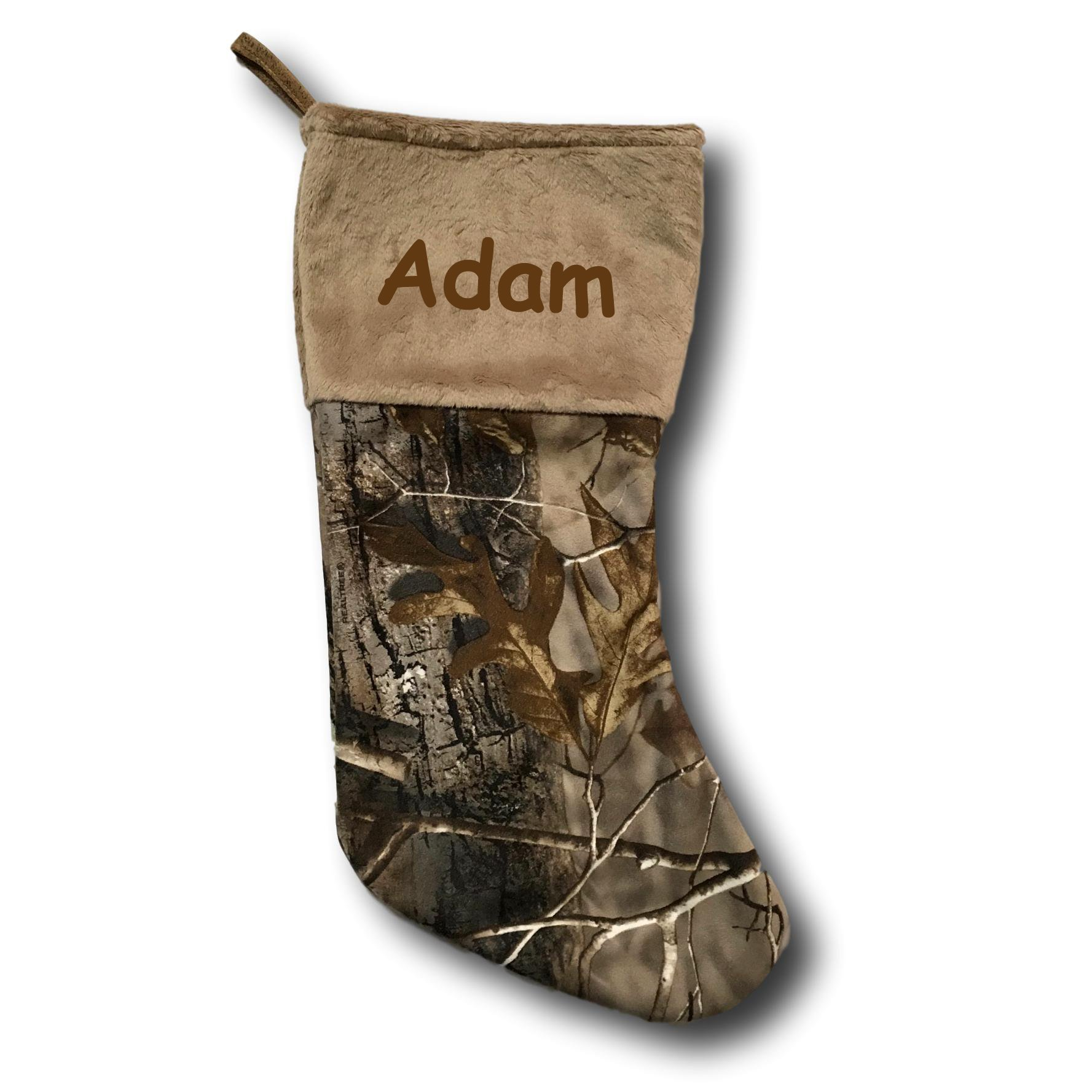 Personalized Carstens Realtree Camo Christmas Stocking Decoration - 17 Inches