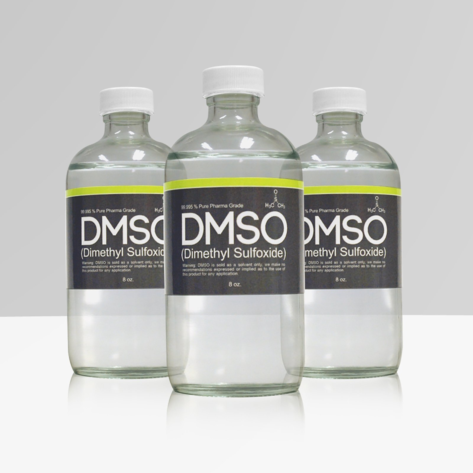 LOW ODOR DMSO 3 Glass 8 oz Bottle Special 99.995% Pharma Grade Dimethyl Sulfoxide